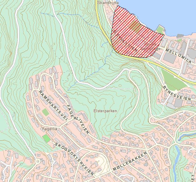 Kvikkleireutsatte områder i Fagerliaområdet